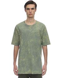 Faith Connexion Over Bleach Cotton Jersey T-shirt - Green