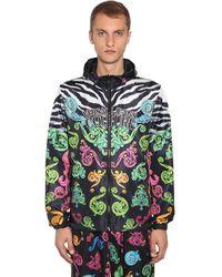 Versace Jeans Couture リバーシブルフード付きリップストップジャケット - マルチカラー