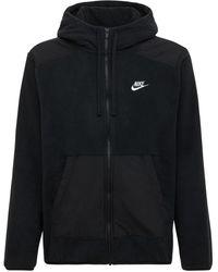 Nike Hoodie Aus Polar-fleece - Schwarz