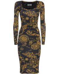 Versace Jeans Couture ストレッチジャージードレス - ブラック