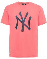 "KTZ T-shirt Mit Logo ""mlb Seasonal Ny Yankees"" - Pink"