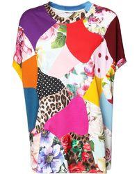 Dolce & Gabbana シルク&コットンジャージーtシャツ - マルチカラー