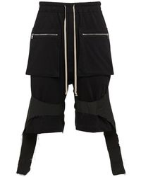 Rick Owens Lvr Exclusive Shorts Upcycled - Negro