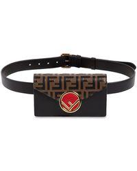 Fendi - Logo Embossed Leather Belt Pack - Lyst