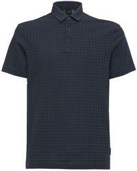Armani Exchange Хлопковая Рубашка Поло - Синий