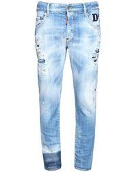 DSquared² Skater コットンデニムジーンズ 16cm - ブルー