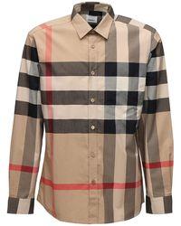 Burberry Рубашка Из Стретч Поплин - Многоцветный