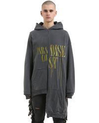 Alchemist Hooded Maxi Cotton Sweatshirt - Black