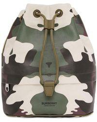 Burberry Клатч Из Хлопка И Кожи Phoebe - Зеленый