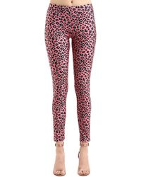 Vivetta - Leopard Printed Stretch Lycra Leggings - Lyst