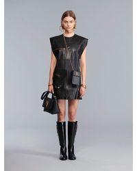 Versace Платье Из Кожи - Черный