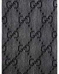 Gucci Gg Jacquard Stockings - Black