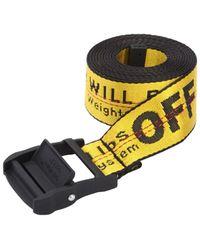 Off-White c/o Virgil Abloh Cinturón De Nylon Industrial Con Logo 35mm - Amarillo