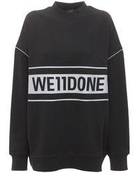 we11done ロゴスウェットシャツ - ブラック