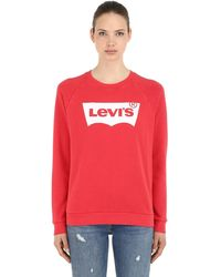 Levi's Vintage Logo Cotton Sweatshirt - Red