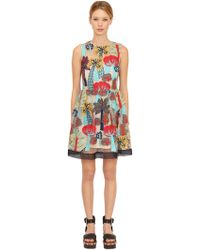 RED Valentino - Forest Embroidered Macramé Dress - Lyst