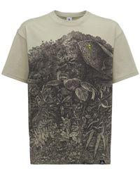 Nike T-shirt Aus Baumwollmischung Mit Druck - Grau
