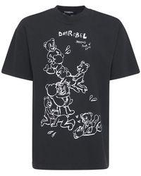 DOMREBEL Tenderness Cotton Jersey T-shirt - Black