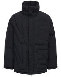 Valentino Куртка Из Нейлона На Пуху С Тиснением - Черный