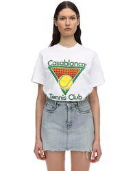 CASABLANCA コットンジャージーtシャツ - ホワイト