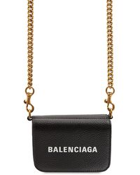Balenciaga Маленький Кошелек С Цепочкой - Черный