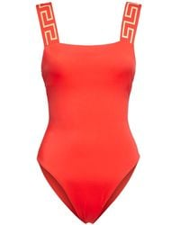 Versace Classic One Piece Swimsuit - Rot