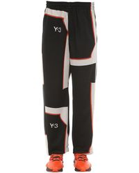Y-3 Pantaloni In Techno Jacquard - Nero