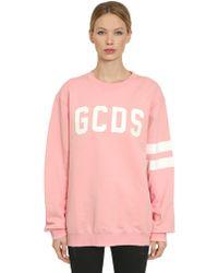 Gcds 夜光ロゴプリント スウェットシャツ - ピンク