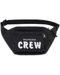 Balenciaga - Marsupio Crew in nylon con logo - Lyst