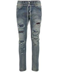 Lifted Anchors Jeans Malibu De Denim De Algodón - Azul