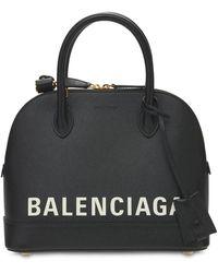 """Balenciaga Kleine Handtasche Aus Leder """"ville"""" - Schwarz"""