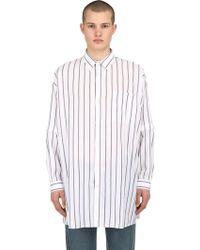 Balenciaga - Oversized Striped Cotton Poplin Shirt - Lyst