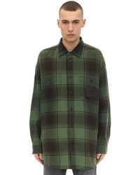 DIESEL コットン ロング ワーカーシャツジャケット - グリーン