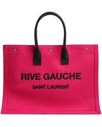 Saint Laurent Rive Gauche ウールトートバッグ - マルチカラー