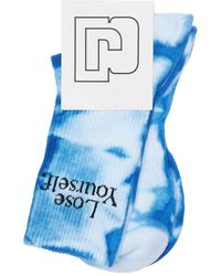 Paco Rabanne Tie&dye Cotton Tennis Socks - Blue