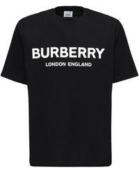 Burberry - Футболка Из Хлопкового Джерси С Принтом Логотипа - Lyst