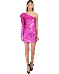 Dundas - One-shoulder Sequins Mini Dress - Lyst