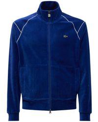 Lacoste L!ve コーデュロイスウェットシャツ - ブルー