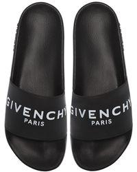 Givenchy Шлепанцы С Логотипом - Черный