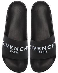 Givenchy Flache Sandalen - Schwarz