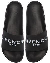 Givenchy Sandales plates - Noir
