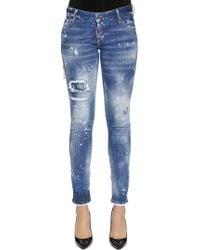 DSquared² - Jeans Denim De Algodón Desgastados - Lyst