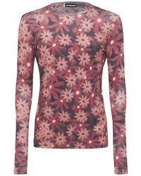 Jacquemus La Seconde Peau Fleur Tシャツ - マルチカラー