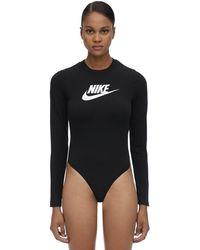 """Nike Body """"Nsw Heritage"""" In Misto Cotone Con Logo - Nero"""