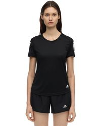 adidas Originals Own The Runストレッチナイロンtシャツ - ブラック