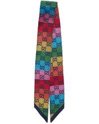 """Gucci Noeud Papillon En Soie """"gg Multicolor"""" - Multicolore"""