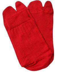 Maison Margiela Носки Из Хлопка - Красный
