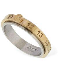 Maison Margiela Geprägter, Dünner Ring Mit 11-logo - Mehrfarbig