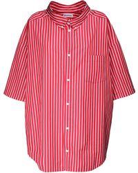 Balenciaga Рубашка Из Поплин С Логотипом - Красный