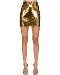 Amen - Sequined Mini Skirt - Lyst